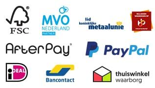 betaalmethoden, verzendwijze en certificeringen