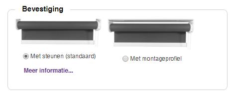 Montageprofiel rolgordijn bestellen